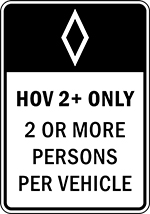 Restricted Access or HOV Lane