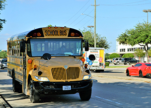 What is the Rule for Stopping for a School Bus?